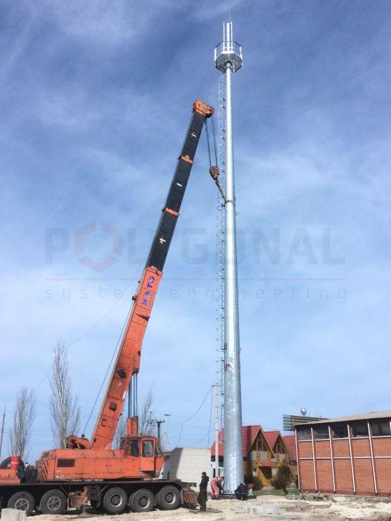 Вишка зв'язку висотою 35 метрів
