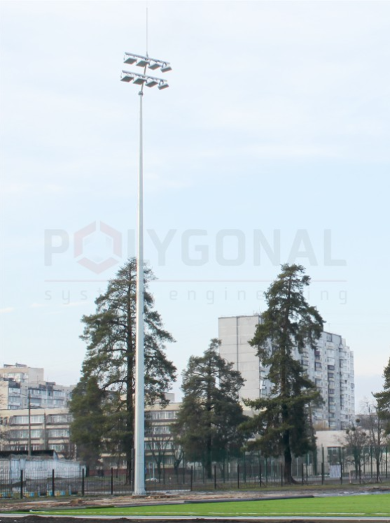 Освітлення футбольного поля - парк Партизанської слави, Київ