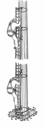 Съемная алюминиевая лестница и привязные ремни безопасности