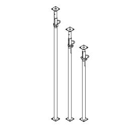 Стойка телескопическая усиленная с открытой резьбой (СТО ТОР)