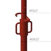 Стойка телескопическая стандартная с закрытой резьбой (СТЗ)
