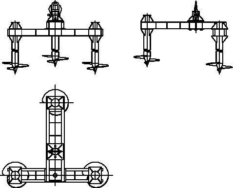 Трьохпальний анкерний фундамент