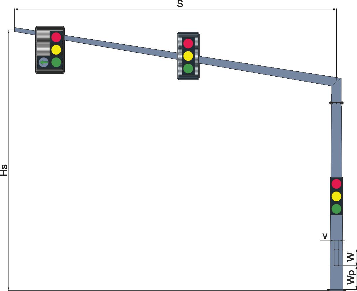Консольні опори світлофорів