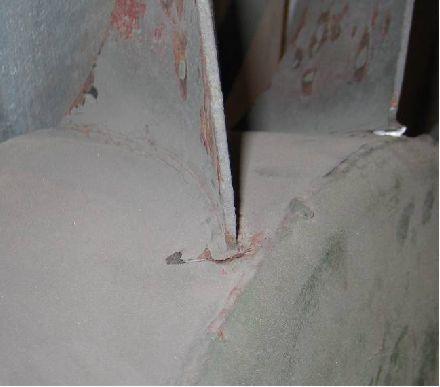 Тріщини елементів робочих коліс