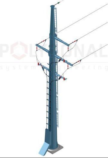 Переходная опора кабель-воздух