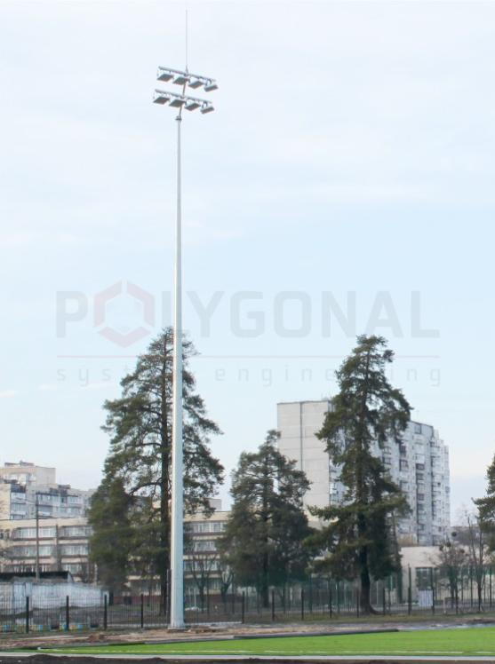 Освещение футбольного поля - парк Партизанской славы, Киев