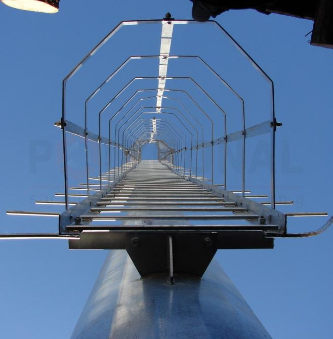 Способы подъема на стальную многогранную опору