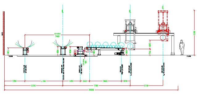 План конвейерной накопительной системы