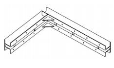 Ригель колонн угловой
