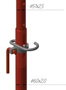 Стойка телескопическая стандартная с открытой резьбой (СТО)