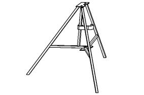Тренога для вертикальной установки стойки