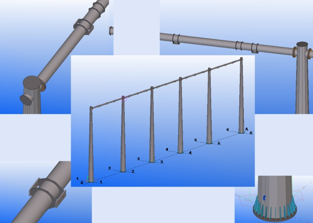 3D проектирование портала ОРУ