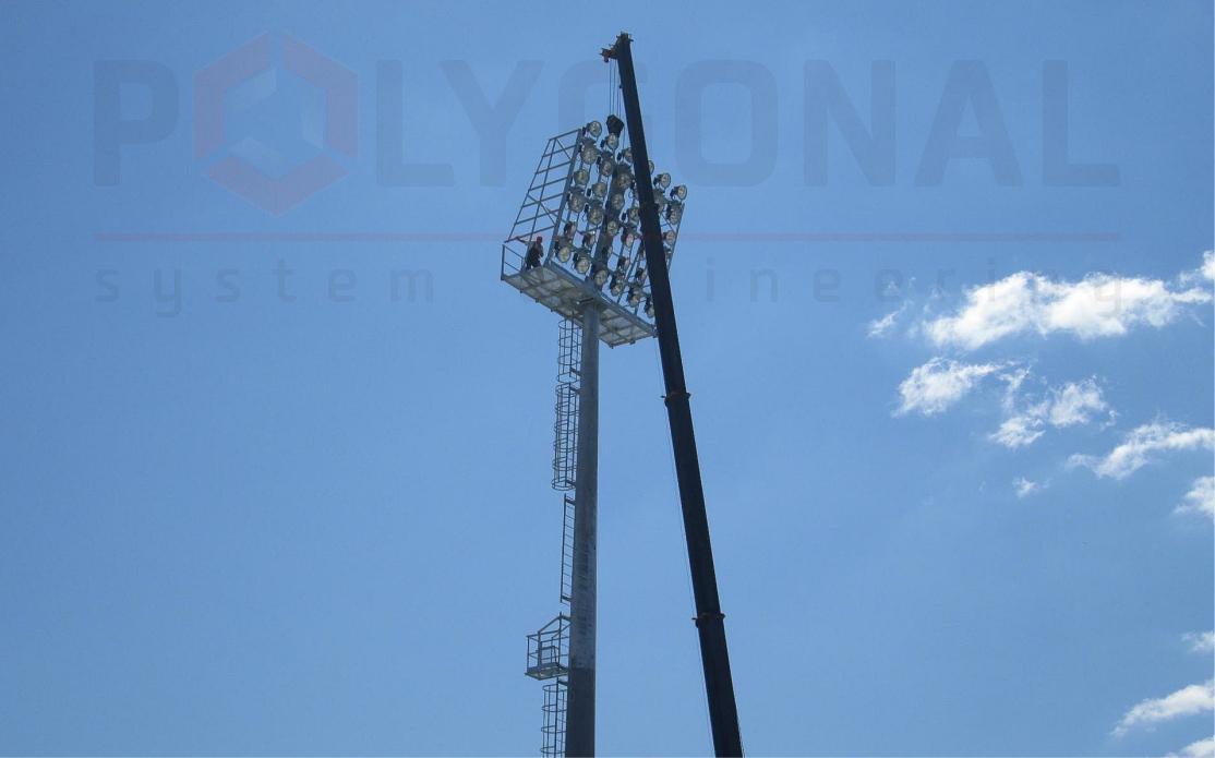 Прожекторная мачта, 32 м