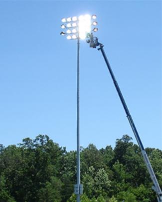 Сборка, установка, монтаж опор освещения и прожекторных мачт