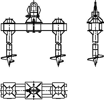 Двухсвайный анкерный фундамент