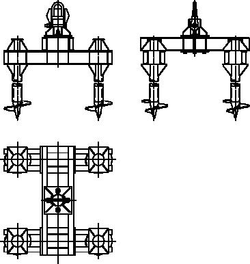 Четырёхсвайный анкерный фундамент