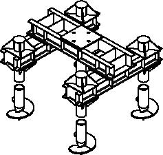 Базовый четырёхсвайный фундамент