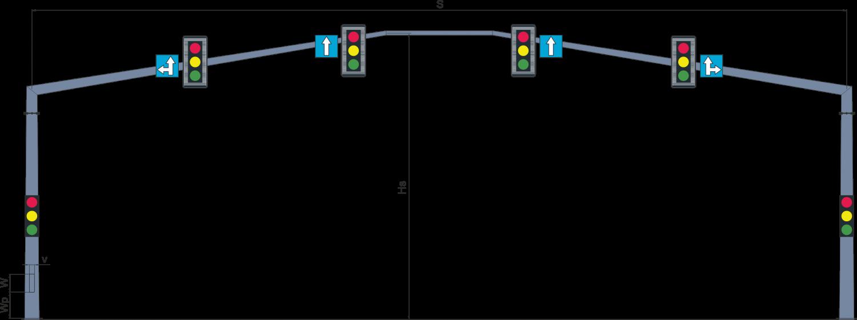 Рамные опоры светофоров