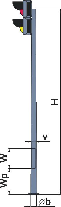 Стойки светофоров многогранные